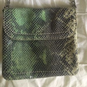 Banana Republic snakeskin cross body bag